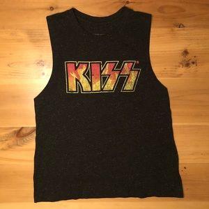 Kiss sleeveless tee shirt tank top